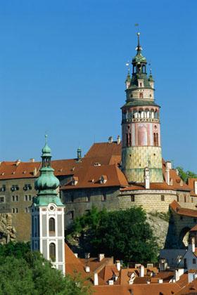 Cesky Krumlov castle in Bohemia