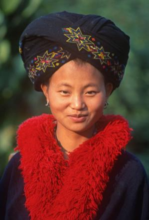 A Thai Yao woman in traditional wear