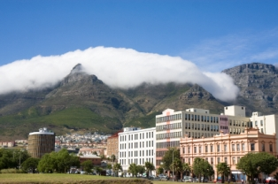 Table Mountain forms the backdrop for Cape Town
