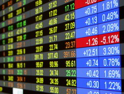 Real-time quotes at a stock exchange