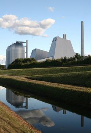 A modern energy plant in Denmark