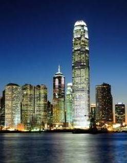 Hong Kong's skyline in the night