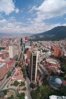 View of Bogota city