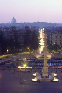 The Piazza del Popolo in Rome