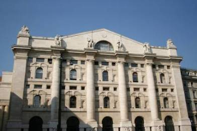 Borsa stock exchange in Milan