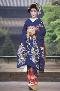 Maiko in a kimono