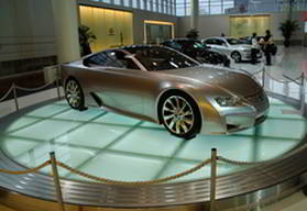 Car at a Japanese auto show