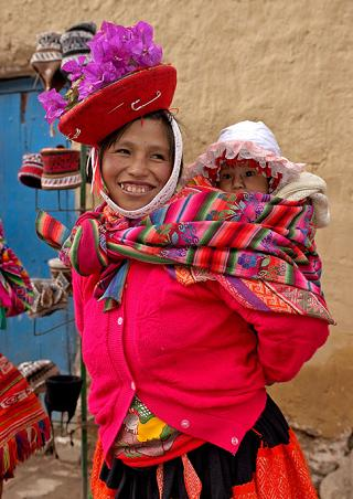 Woman and chile, Peru