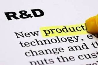 R&D heading with the word product highlighted in yellow