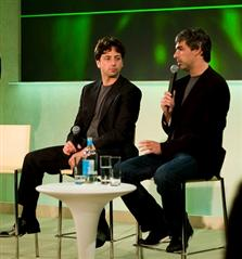 Sergey Brin (L) and Larry Page