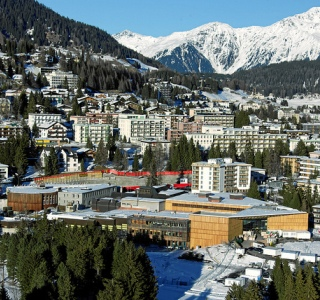 A panoramic view of Davos