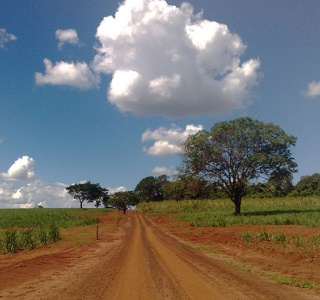 An unpaved road in Brazil
